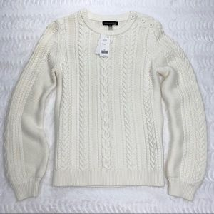 Banana Republic Cable Crew Sweater NWT Size Small